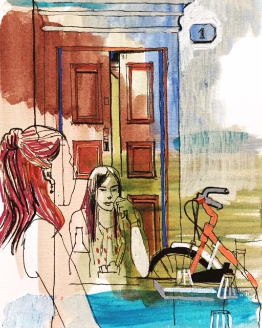Girls waiting, Florence