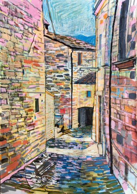 Village in Marche, Italy